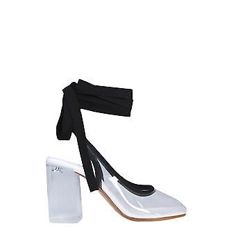 Mm6 Maison Margiela S66wp0001p2521h6959 Dames's Wit/zwart Pvc Sandalen