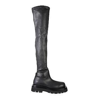 Bottega Veneta 630302vbp711000 Women's Black Leather Boots