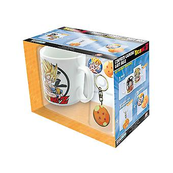 Dragon Ball Z Mug Keyring and Badges Goku new Official Gift Set