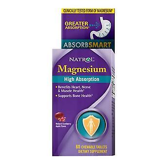 Natrol Hoge Absorptie Magnesium, Cranberry Apple 60 Tabs