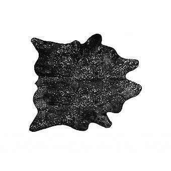72&quot x 84,quot; שחור וכסף, עור - שטיח שטח