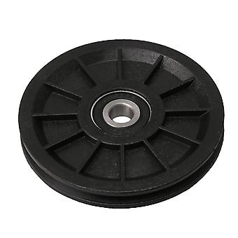 90x11.5mm Black Groove Bearing Pulley Cable Wheel Gym Equipment Part