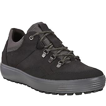 Ecco Mens Soft 7 Low GORE-TEX Waterproof Walking Hiking Trainers Shoes Black