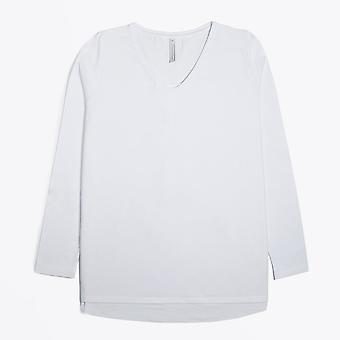 Ania Schierholt  - V-Neck Long Sleeve Top - White