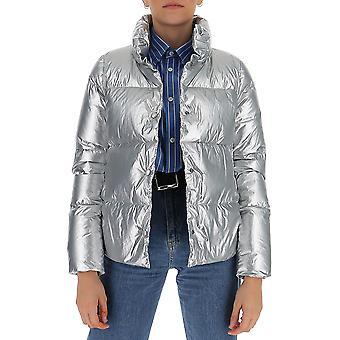Aggiungi 2awam608218 Women's Silver Nylon Down Jacket