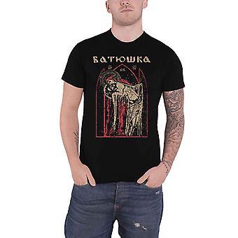 Batushka T Shirt Pieta Band Λογότυπο νέα Επίσημη Mens Μαύρο