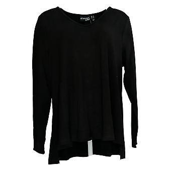 Attitudes by Renee Women's Top Finespun Jersey Black A375328