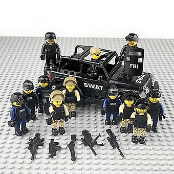 Military Special Forces Soldiers Building Blocks, Figures Guns, Weapons,