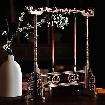 Ruusupuu calligraphy sivellin haltija antiikki tyyli perinteinen maalaus kirjoittaminen