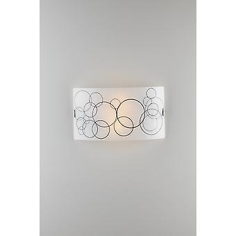 Dekorativt Flush tak ljus, vitt glas, E27