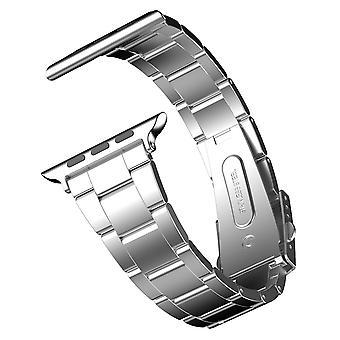 Jetech náhradné pásmo pre hodinky Apple Watch 42mm a 44mm séria 1 2 3 4 5, nehrdzavejúca oceľ, striebro