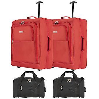 Baudwin cabine valise 56x45x25cm x 2 & holdall 35x29x20cm x 2