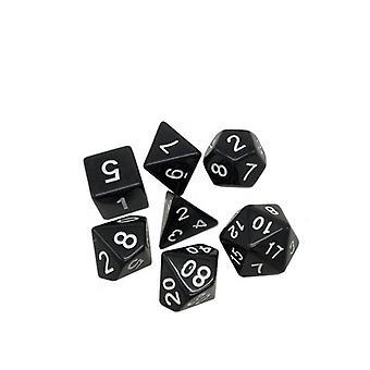 RPG-tärningar 7-pack (för Dungeons and Dragons, med mera) Svart