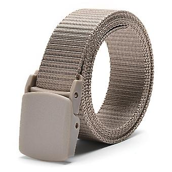 Adjustable Nylon Canvas Waist Belt With Metal Plastic Buckle Male Casual Fabric