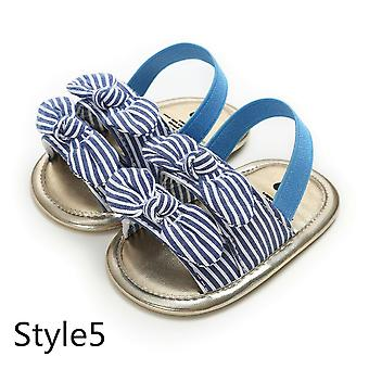 Baby Bowknot Plaid Striped Floral Party Princess Beach Shoes