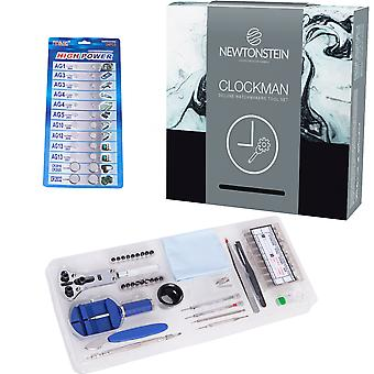Clockman - 420pcs Deluxe Watchmakers Tool Set Housing And Case Opener/pry Tools And Pin Punches Steel Tweezers Link Bracelet Adjuster 360 Pieces Of