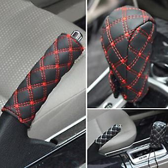 Gear Shift Knob Cover Hand Brake Cover Sleeve 2 In 1 Set Professional Car