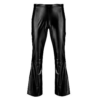 Men Retro Disco Long Flare Trouser Club Party Pants