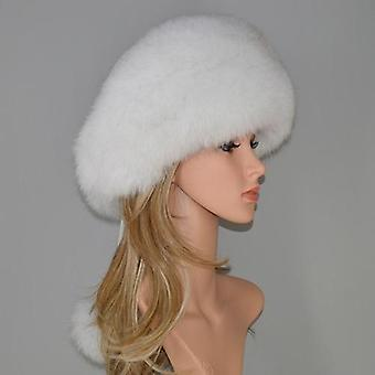 Winter 100% Natural Real Fox Fur en Real Fox Fur Bomber Hats, Real Genuine Fox