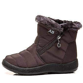 Winter Warm Ladies Snow Boots Female Side Zipper Waterproof Cotton Boots Casual Women Shoes