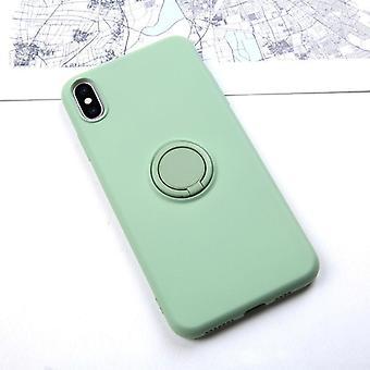 anti-knock myk flytende silikon sak for Iphone - stativ ringholder deksel