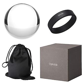 Optickle - crystal glass ball for photography (78mm) optical glass - k9 crystal - great gift idea fo