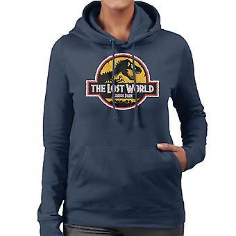 Jurassic Park die verlorene Welt weiß Umriss Logo Frauen's Kapuzen Sweatshirt