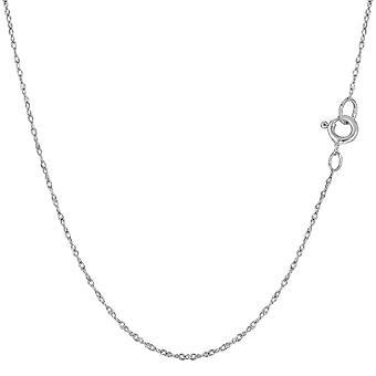 14 k Weißgold Seil Kette Halskette, 0,6 mm