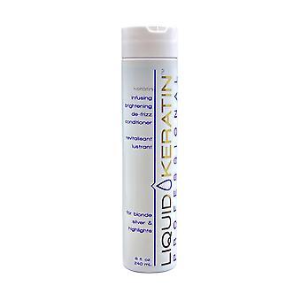 Liquid Keratin Keratin Infusing Brightening De Frizz Conditioner 8 OZ