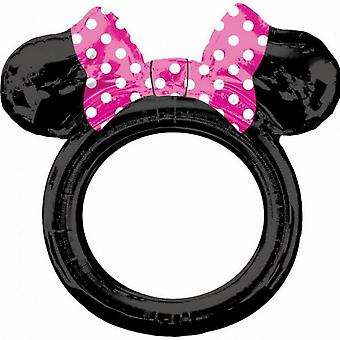 Photo frame Minnie Mouse Girls 73 Cm Foil Black / Pink