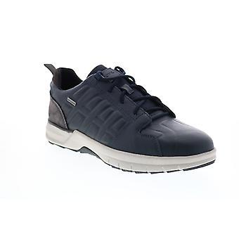 Geox U Keelback B Abx Herren Blau Leder Euro Sneakers Schuhe