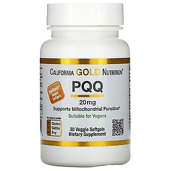California Gold Nutrition, PQQ, 20 mg, 30 Veggie Softgels