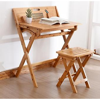 Eco-friendly Bamboo Folding Study Desk With Stool