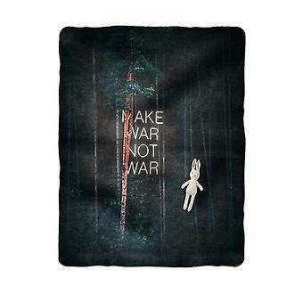Make war not war sublimation baby blanket