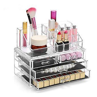 Wokex 4top Schmuck Aufbewahrungsbox Acryl Kosmetik Lippenstifte Make-up-Organizer Neckholder Box (4