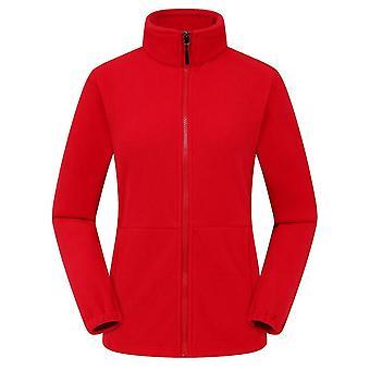 Men Women's Fleece Hiking Thermal Jackets, Outdoor Sports Windbreaker Male Warm