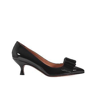 L'autre Chose Black Patent Leather Court Shoes With Bow