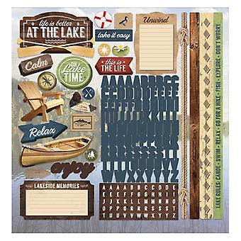 Paper House Productions - Cardstock Stickers - Lake Life