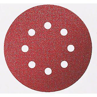 Bosch 2608605641 125Mm P60 10Pce Sanding Discs Wood 8 Hole