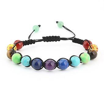 Women's chakra yoga woven bead bracelet