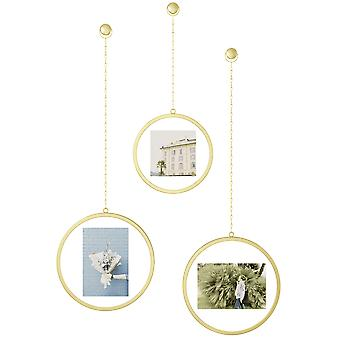 Umbra Fotochain Round Photo Frame Brass