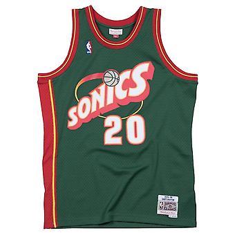 Mitchell & Ness Nba Seattle Supersonics Gary Payton Swingman SMJYGS18210SSUDKGN95GPA basketball  men t-shirt