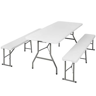 tectake Bord- och bänkset - Campingmöbler