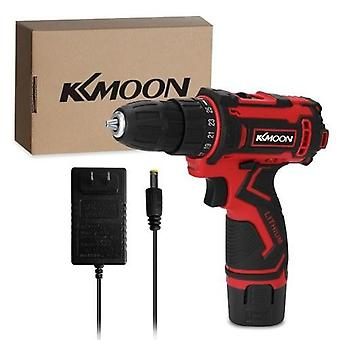 12-Voltage Multifunctional Electric Cordless Drill High-power Lithium Battery Wireless Rechargeable Hand Drills Brush Motor Home DIY Electric Power Tools