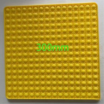 Veci certifikované® XXL Pop It - Extra extra veľký Fidget Anti Stress Toy Bubble Toy Silikónové štvorcové žlté