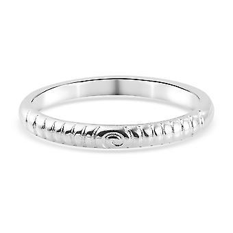 TJC Silber Hochzeit Band Ring für Frauen Sterling gestempelt Schmuck