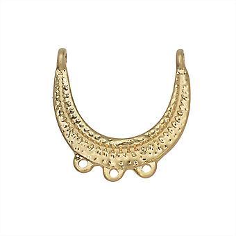 Zola Elements Pendant Link, Araña en forma de U martillada 22x22mm, 1 pieza, Tono dorado satinado