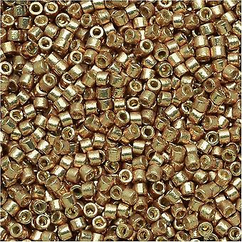 Miyuki Delica Seed Beads, 11/0 Size, 7.2 Grams, Duracoat Galvanized Champagne DB1834