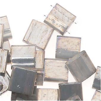 """Miyuki Tila 2 hål Fyrkantiga pärlor 5mm """"Galvanized Grey Luster"""" 7,2 gram"""