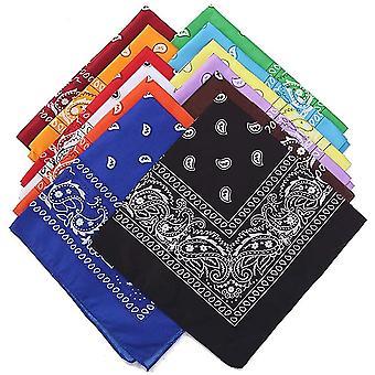 FengChun Bandana Kopftuch ,12 Stck Paisley Halstuch Kopf Square Schal Multifunktionsfarbenes